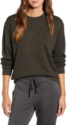 Lou & Grey Checked Ponte Sweatshirt