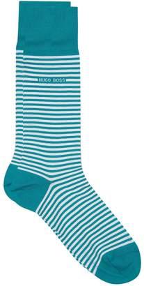 HUGO BOSS Striped Ankle Socks (Pack of 2)
