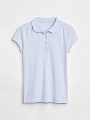 Gap Uniform Peter Pan Short Sleeve Polo Shirt