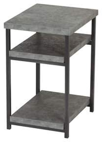 Household Essentials Faux Concrete Slate Low Side Table