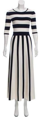 Gabriela Hearst Capote Striped Wool & Cashmere Maxi Dress