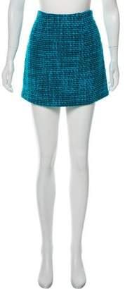 Alice + Olivia Wool-Blend Mini Skirt