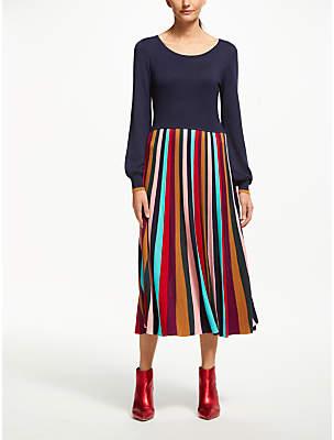 Margie Knitted Dress, Multi Stripe