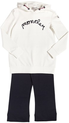 Moncler Cotton Sweat Dress & Leggings