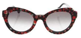 Preen by Thornton Bregazzi Printed Round Sunglasses