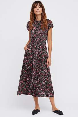 Free People '40S Printed Midi Dress