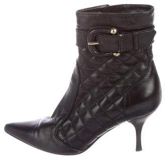Burberry Quilted Leather Ankle Boots