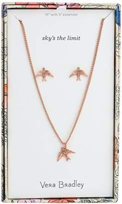 Vera Bradley Womens Sparkling Bird Earring Jewelry Set