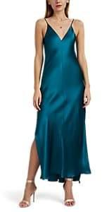Juan Carlos Obando Women's Silk Satin Slipdress - Turquoise