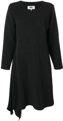 MM6 MAISON MARGIELA asymmetric long-sleeve midi dress