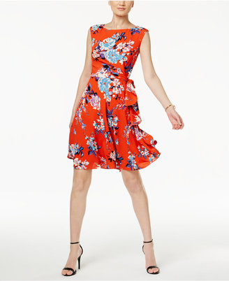 Tahari ASL Floral-Print A Line Dress $128 thestylecure.com