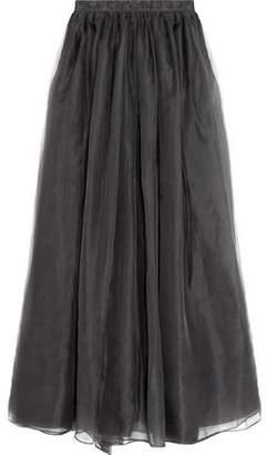 Alice + Olivia Alice+olivia Abella Silk-Organza Maxi Skirt