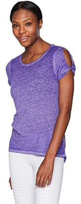 Andrew Marc Performance Women's Cut Out Shoulder Tee