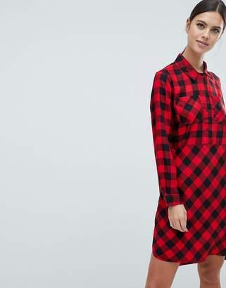 French Connection Margot Buffalo Plaid Shirt Dress