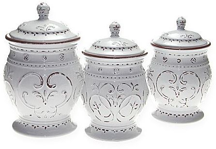 JCPenney Dinnerware, Romanesque 3-pc Canister Set