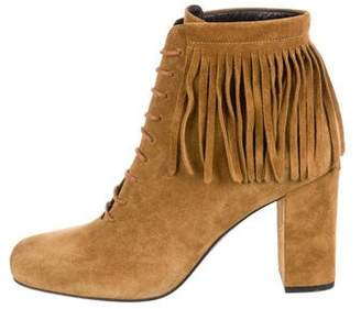 Saint Laurent Babies 90 Suede Ankle Boots w/ Tags