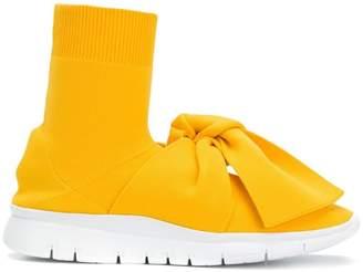 Joshua Sanders sock style bow embellished sneakers