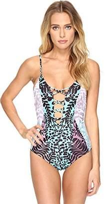 Mara Hoffman Women's Tanya Lattice Front One Piece Swimsuit