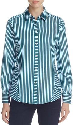 Foxcroft Sateen Stripe Non-Iron Shirt $89 thestylecure.com