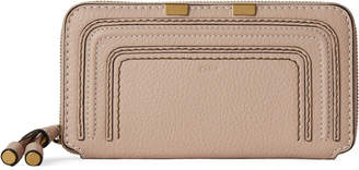 Chloé Nude Leather Zip-Around Wallet