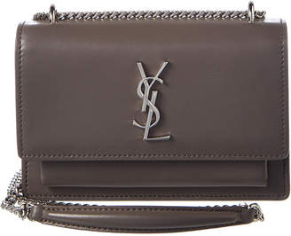 Saint Laurent Small Sunset Monogram Leather Wallet On Chain