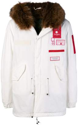 Mr & Mrs Italy fur-lined medium parka