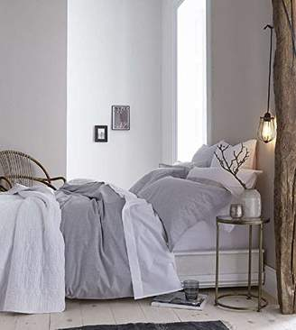 Bianca Duvet Cover Set, Cotton, Grey, Double