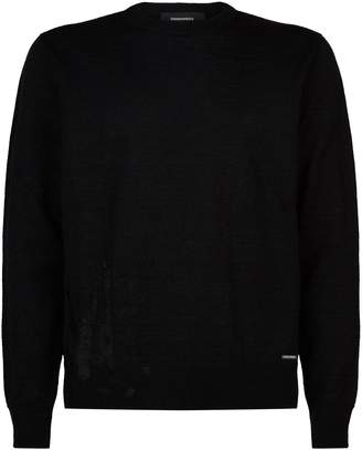 DSQUARED2 Distressed Sweater