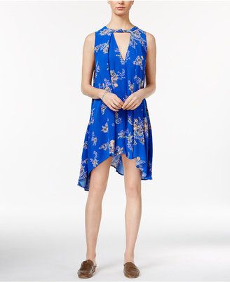 Free People Printed Asymmetrical Shift Dress $88 thestylecure.com