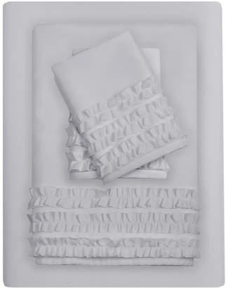 Jla Home Intelligent Design Ruffled 6-pc California King Sheet Set Bedding