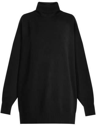 Raey Split Side Roll Neck Cashmere Sweater - Womens - Black