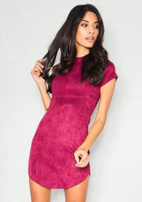 af66b24044 Missy Empire Missyempire Meg Wine Faux Suede Mini Dress
