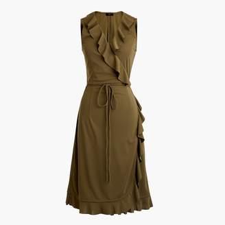 J.Crew Tall sleeveless ruffle wrap dress