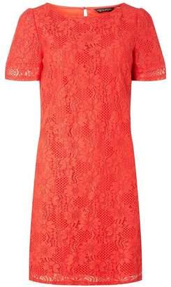 Dorothy Perkins Womens Orange Lace Shift Dress