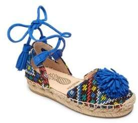 Kid's Mini Sunshine Ankle-Wrap Espadrilles