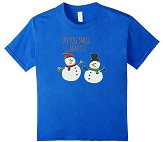 Do You Smell Carrots TShirt Funny Cute Snowman Christmas Top