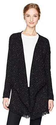 NYDJ Women's Tweed Cascade Sweater Cardigan