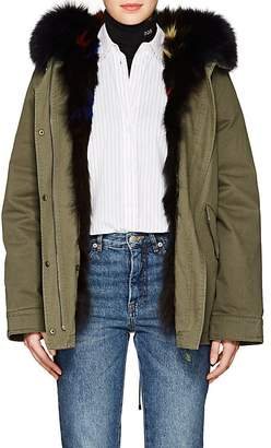 Yves Salomon Army by Women's Reversible Cotton & Fur Parka