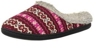 Dearfoams Women's Textured Knit Clog Slipper