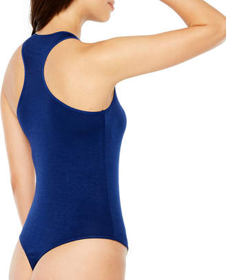 Rene Rofe Highneck Racerback Bodysuit Sleeveless High Neck Bodysuit-Juniors