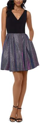Betsy & Adam V-Neck Fit & Flare Dress