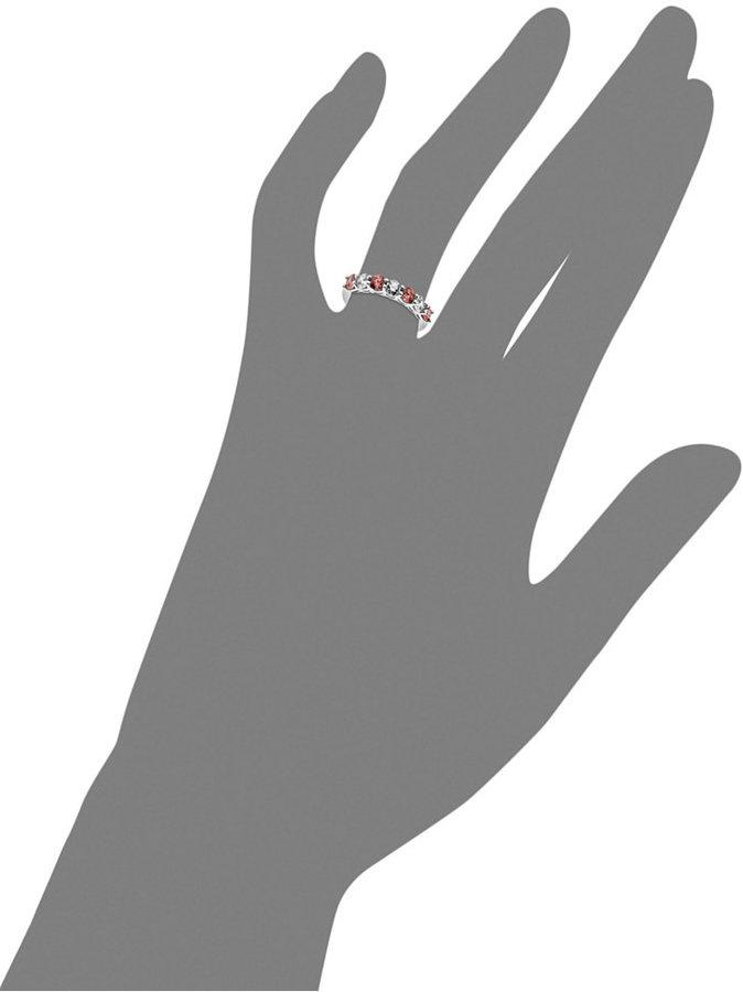 Arabella Sterling Silver Ring, Pink and White Swarovski Zirconia Ring (1-1/5 ct. t.w.)