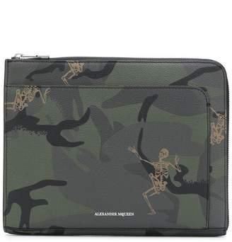 Alexander McQueen Skeleton print clutch bag