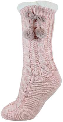 Point Zero Women's Cable-Knit Reading Socks