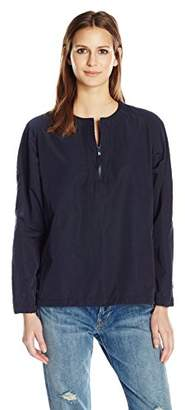 Vince Women's Washed Anorak Pullover
