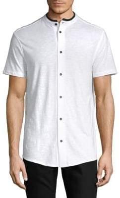 Karl Lagerfeld Short Sleeve Button Front Shirt