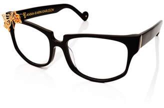 Karlsson Anna-Karin Seeking Summer Square Optical Frames, Black