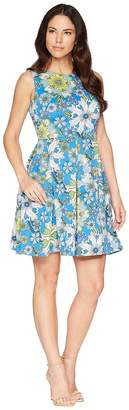 Taylor Floral Printed Fit and Flare Dress Women's Dress