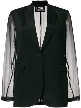 Karl Lagerfeld sheer sleeve blazer
