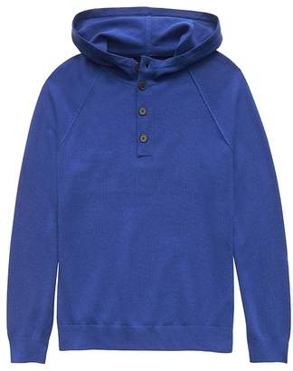Banana Republic Machine-Washable Wool-Cashmere Sweater Hoodie